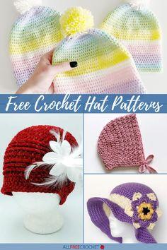 Free Crochet Hat Patterns for All Seasons Crochet Baby Hat Patterns, Crochet Baby Hats, All Free Crochet, Learn To Crochet, Slouchy Hat, Keep Warm, Sun Hats, Free Pattern, Lovers