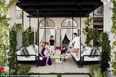Reality star real estate: The Keeping Up with the Kardashians siblings' homes - decorated by Martyn Lawrence Bullard - are both located in the posh gated community called The Oaks of Calabasas