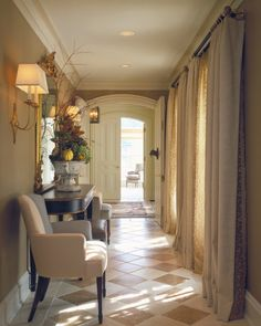 Beautiful hallway!! via Hickman Interiors.