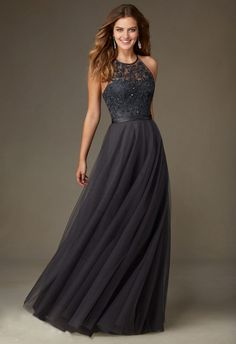 Tulle With Embroidery And Beading Bridesmaid Dress