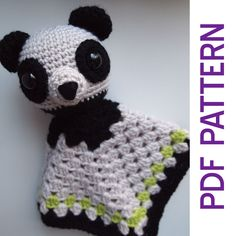 Amigurumi Panda Bear Security Baby Blanket Lovey PDF by HamAndEggs, $2.99