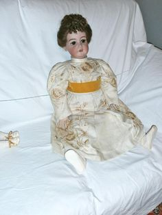 Muñecas Porcelana: Muñeca de porcelana, Simón y Halbing, 80 ctms. - Foto 4 - 61096283