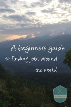 A beginners guide to finding jobs abroad featuring the following jobs; Seasons, cruise ship, English teaching, Volunteer, super yacht, summers camps and tour guide jobs. This post includes useful websites to find jobs and more information regarding each job category and a little bit more information regarding them