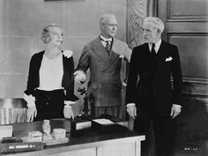 Dorothy Mackaill, Hobart Bosworth and Lewis Stone in The Office Wife