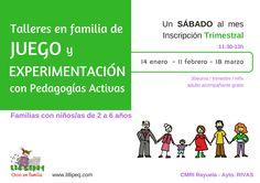 Talleres de juego para niños con pedagogias activas en rivas