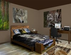 Wolf Wall Art Murals Custom Sizes