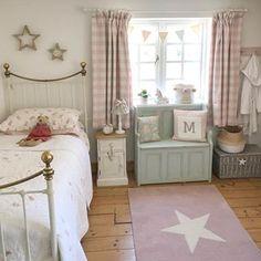 Big Girl Bedrooms, Little Girl Rooms, Guest Bedrooms, Girls Bedroom, Bedroom Decor, Cosy Cottage, Pretty Bedroom, Girl Bedroom Designs, Cottage Interiors