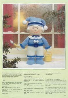 Christmas Crafts, Xmas, Christmas Stuff, Christmas Knitting, Crochet Christmas, Jean Greenhowe, Doll Toys, Dolls, Doll Clothes