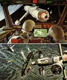 "Robert-McCALL--mainstation by x-ray delta one, via Flickr   ****If you're looking for more Sci Fi, Look out for Nathan Walsh's Dark Science Fiction Novel ""Pursuit of the Zodiacs."" Launching Soon! PursuitoftheZodiacs.com****"