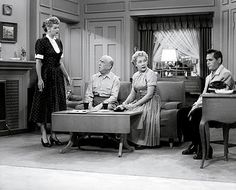 """""""I Love Lucy"""" You know the back story: Insistent,impish and indefatigable Lucy Ricardo ( Lucille Ball ) craves the showbiz spotlight even more than her bandleader husband,Ricky ( Desi Arnaz ). In pursuit of fame and fortune Lucy enlists landlord/neighbor Ethel Mertz ( Vivian Vance ) as her co-conspirator in comic capers, while Ethel's husband, Fred Mertz ( William Frawley ) always has to help Ricky in cleaning up the rubble of Lucy's latest,laughable adventure. This sitcom STILL makes me…"""