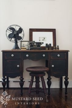 Miss Mustard Seed writing desk tableau