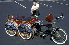 a hood thang! Tricycle Bike, Trike Bicycle, Trike Motorcycle, Cruiser Bicycle, Cargo Bike, Cool Bicycles, Cool Bikes, Bike Rollers, Bike Motor