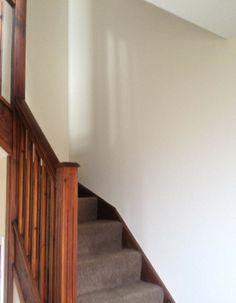 Dodds R Decorators, using Dulux Trade Diamond Matt, Natural Calico for the staircase.