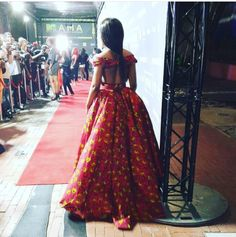 South African Actress Nomzamo Mbatha is fashion goals. African Prom Dresses, African Dresses For Women, African Print Fashion, African Attire, African Fashion Dresses, African Wear, African Women, Nigerian Fashion, Fashion Outfits
