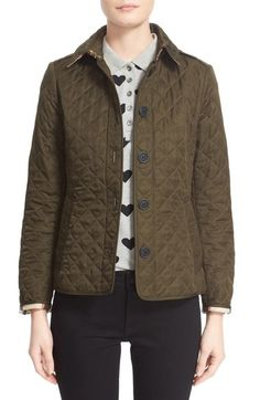 Burberry Brit 'Ashurst' Quilted Jacket available at #Nordstrom