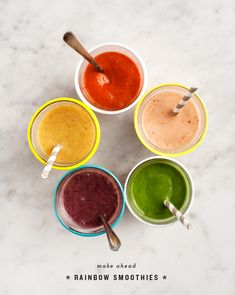 Rainbow Breakfast Smoothies / loveandlemons.com