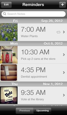 "PhotoMind - Picture Reminders, To Do List, and Notes ($2.99) PhotoMind allows you to quickly take a picture and set a reminder for it. The reminder will appear along with any note you've saved with it, without the need of an Internet connection. Just select ""View"" and PhotoMind will open right to your picture! A picture truly does say a thousand words."