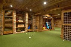 Wine cellar and indoor putting green?No...you may not have this.  Just amazed this exists!  ;)