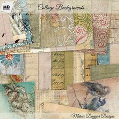 Check out Collage Style Backgrounds by Vintage Style Designs on Creative Market