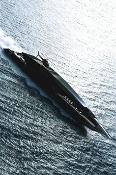 "motivationsforlife: ""Black Swan Yacht designed by Timur Bozca // Instagram…"