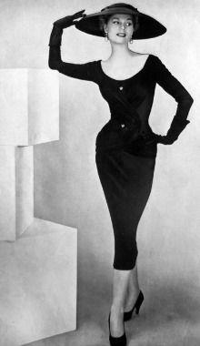 Pencil Dress as shown in 1956 La Femme Chic