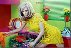 Ruby Aldridge in colorful dress took VOGUE cover photo (1)