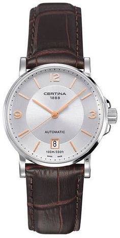 Certina Watch DS Caimano Lady Automatic Watch available to buy online from with free UK delivery. Fancy Watches, Luxury Watches, Cool Watches, Watches For Men, World Of Sports, Patek Philippe, Seiko, 10 Days, Mens Fashion