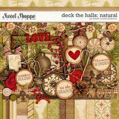 Sweet Shoppe Designs::Digital Scrap Kits::Deck the Halls: Natural by Kristin Cronin-Barrow