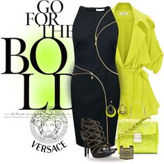"""""""* Boldly Go with VERSACE *"""" by hrfost1210 on Polyvore"""