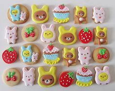 Postreadicción: Galletas decoradas: kawaii Rilakkuma cookies