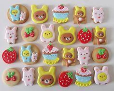 Postreadicción: Galletas decoradas: kawaii Rilakkuma cookies #rilakkuma ♥ Dessert