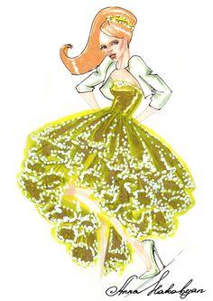 Golden dress 3