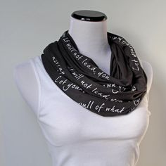 """Book Scarf  """"Let yourself be drawn by the strange pull of what you love. It will not lead you astray."""" - Rumi"""