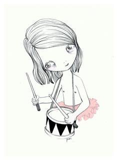 Hilda Palafox // Niña con tambor.