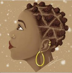 These little bantu knots are so cute. Ebony Beauty Do Over by =KiraTheArtist Black Girl Art, Black Women Art, Art Girl, Black Girls, African American Art, African Art, African Crafts, African History, Natural Hair Art