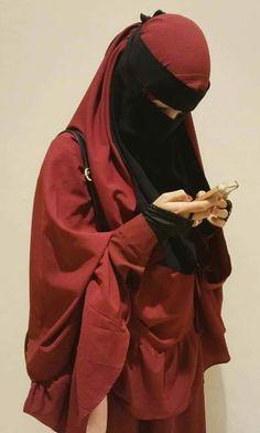Beautiful Muslim Women, Beautiful Hijab, Hijabi Girl, Girl Hijab, Hijab Niqab, Hijab Outfit, Niqab Fashion, Islamic Cartoon, Face Veil