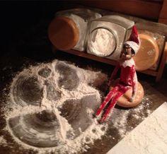 Elf Making Snow Angels | 15 Fun Elf on the Shelf Ideas