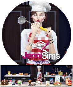 Jennisims: Downloads sims 4: Food Fun 20 decorative items,Accessory Spoon Male /Female