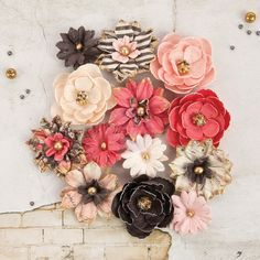 New Reneabouquets Listing~Prima Marketing Rossibelle Flower Embellishement  StyleBranwin  New Release In Stock Ready To Ship
