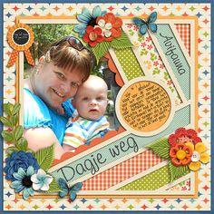 Ready for summer - Kristin Cronin-Barrow Template set 145 - Cindy Schneider DJB I love journaling font - Darcy Baldwin