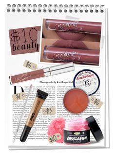 """My Lip Kit"" by hollowpoint-smile ❤ liked on Polyvore featuring beauty, Karl Lagerfeld and Rosebud Perfume Co."