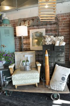 mid-century modern and vintage industrial, a match made in heaven