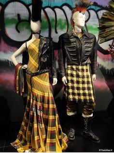 sari cuir et tartan haute-couture Jean-Paul Gaultier, expo JPG Grand Palais Paris