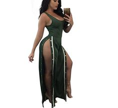 Lutratocro Women Spaghetti Strap Playsuit Wide Leg Low Cut Summer Jumpsuit