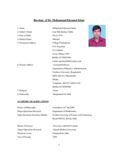Best Of Marriage Resume Format For Boy Free Muslim Unforgettable For Marriage Biodata Template For Boy