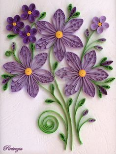 ideas about Quilling Flowers Quilling Birthday Cards, Paper Quilling Cards, Paper Quilling Flowers, Paper Quilling Patterns, Quilled Paper Art, Paper Patterns, Neli Quilling, Quilling Paper Craft, Paper Crafts