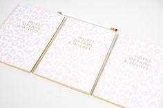 Luxury notebook by Abigail Warner | #awstationerylovers