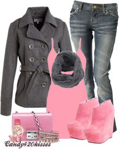 """""""On Wednesday's, we wear Pink :)"""" by candy420kisses on Polyvore"""