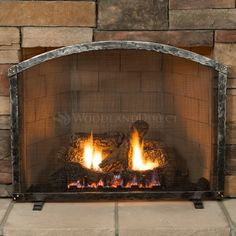 "Warwick Hand-Forged Arch Top Fireplace Screen 39W"" x 31H"" #LearnShopEnjoy"