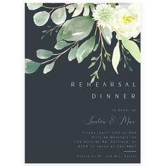 Greenery Rehearsal Dinner Invitation | Forever Your Prints